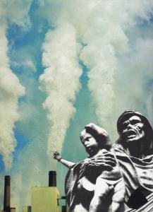 Antonio Occulto Sukkerspin i dag (analog collage, 2017)